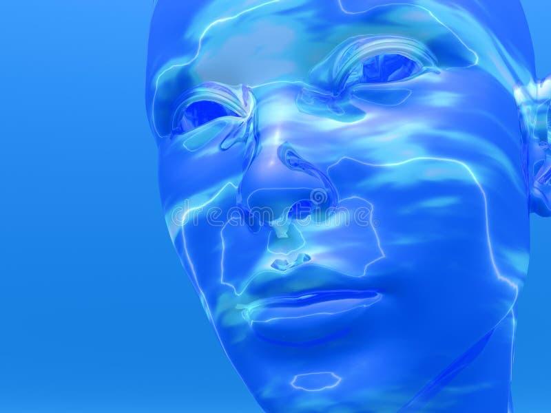 Het hoofd van Cyborg stock illustratie
