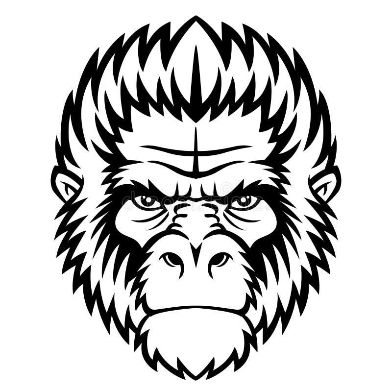 Het hoofd van de aap vector illustratie