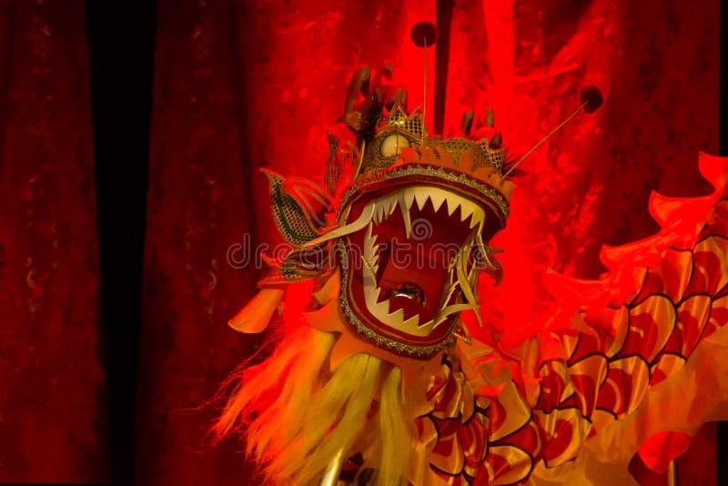 Het hoofd van de draak. Chinees nieuw jaar 2013. Dublin. stock fotografie