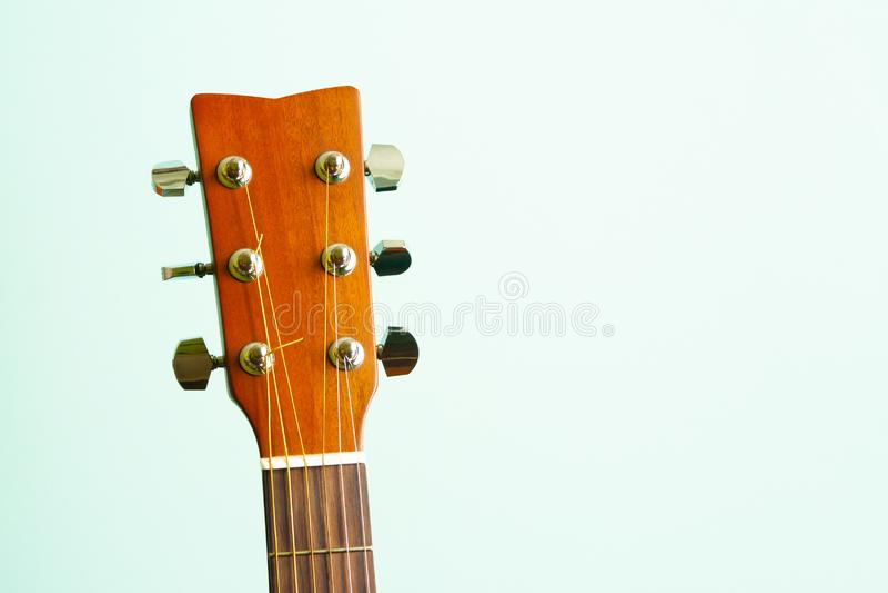 Het hoofd van de gitaar royalty-vrije stock foto