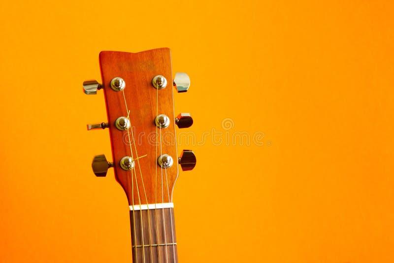 Het hoofd van de gitaar stock foto's