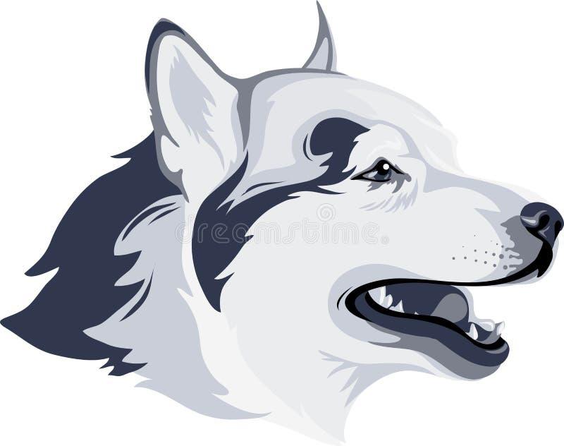 Het hoofd van de hond vector illustratie