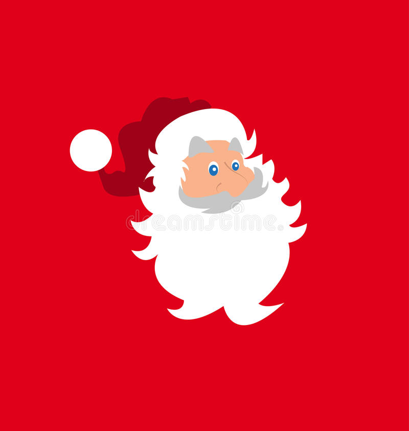 Het hoofd van de kerstman stock illustratie