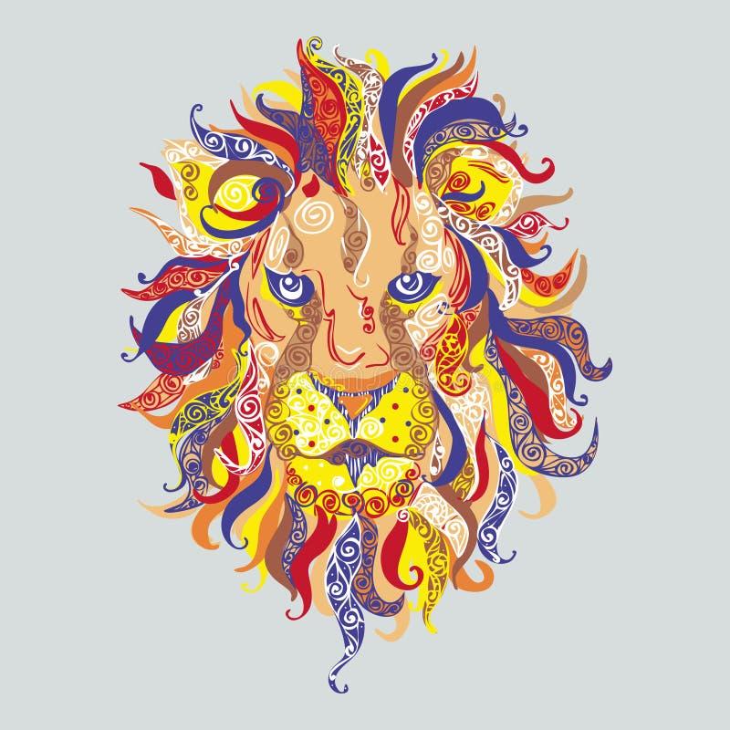 Het Hoofd van de leeuw vector illustratie