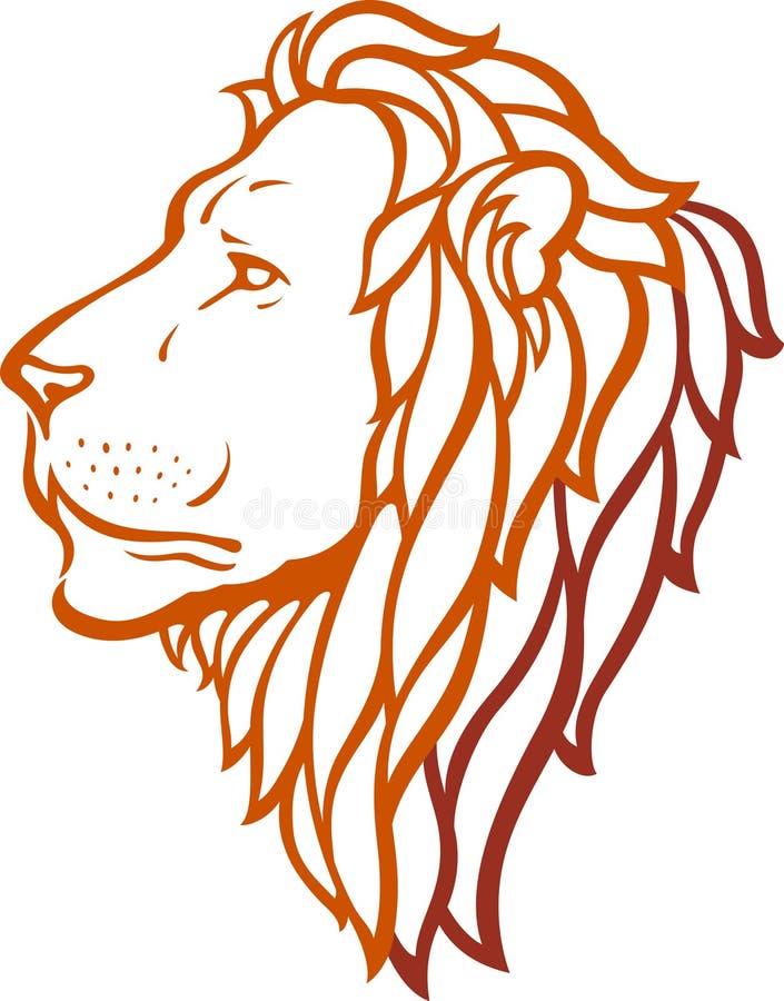 Het Hoofd van de leeuw stock illustratie