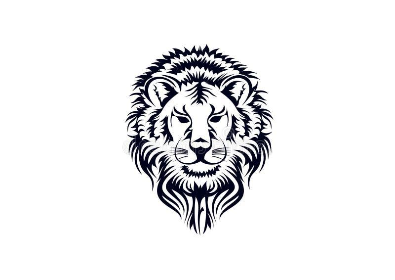 Het Hoofd van de leeuw royalty-vrije illustratie