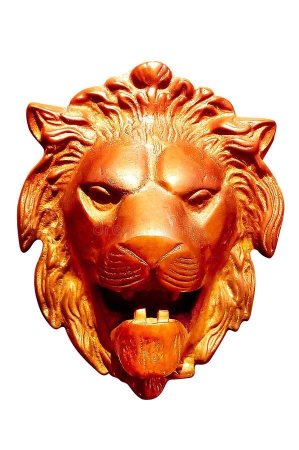 Het Hoofd van de Leeuw van het metaal stock fotografie