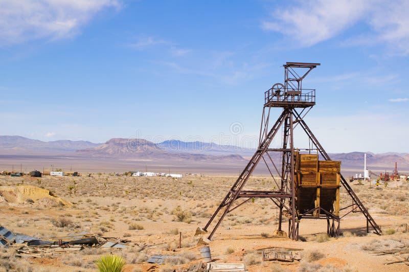 Het hoofd van de mijnbouwschacht royalty-vrije stock afbeelding