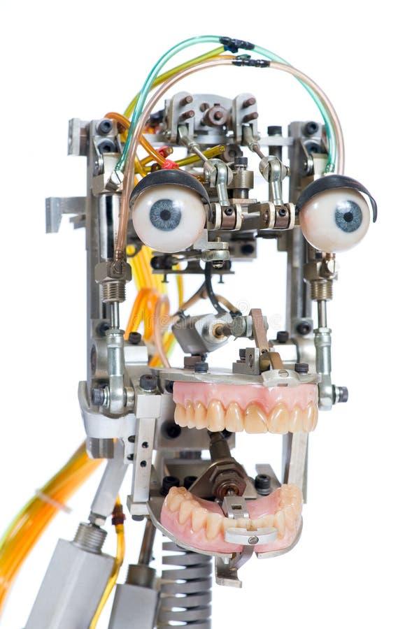 Het hoofd van de robot stock afbeelding