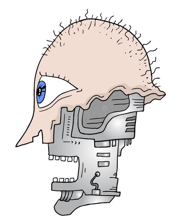 Het hoofd van de robot stock illustratie