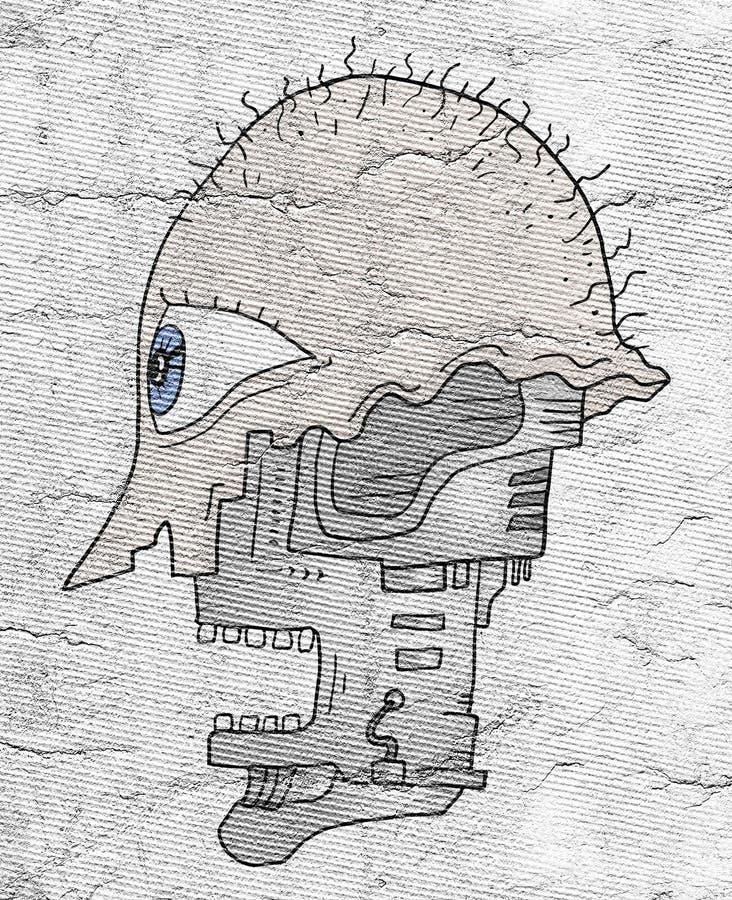 Het hoofd van de robot royalty-vrije illustratie