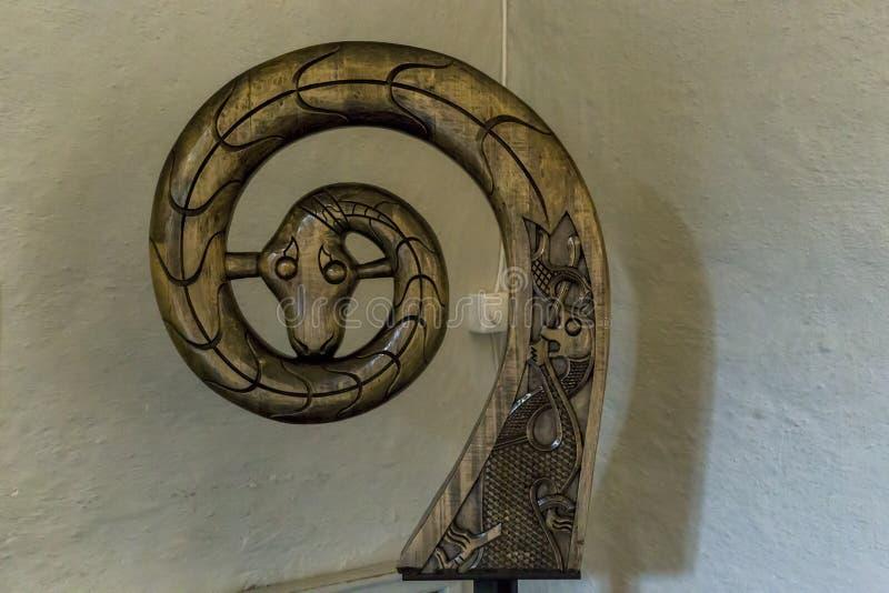 Het hoofd van de slang stock foto's