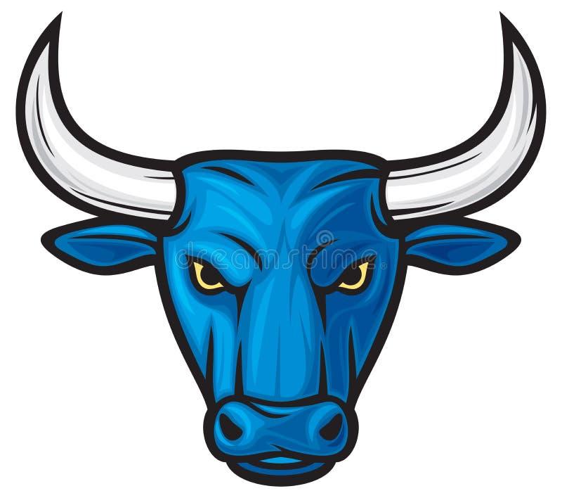 Het hoofd van de stier royalty-vrije illustratie