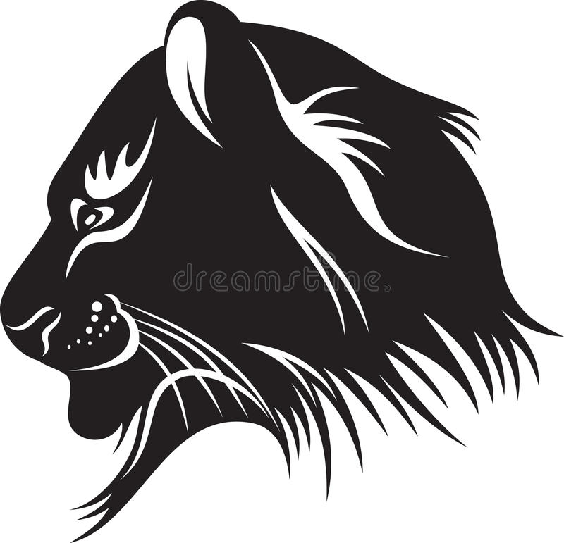 Het hoofd van de tijger royalty-vrije illustratie