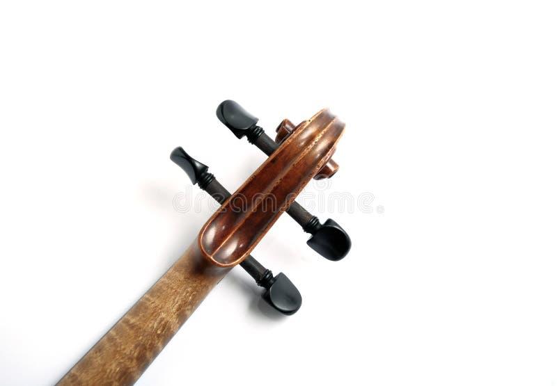 Het hoofd van de viool royalty-vrije stock afbeeldingen
