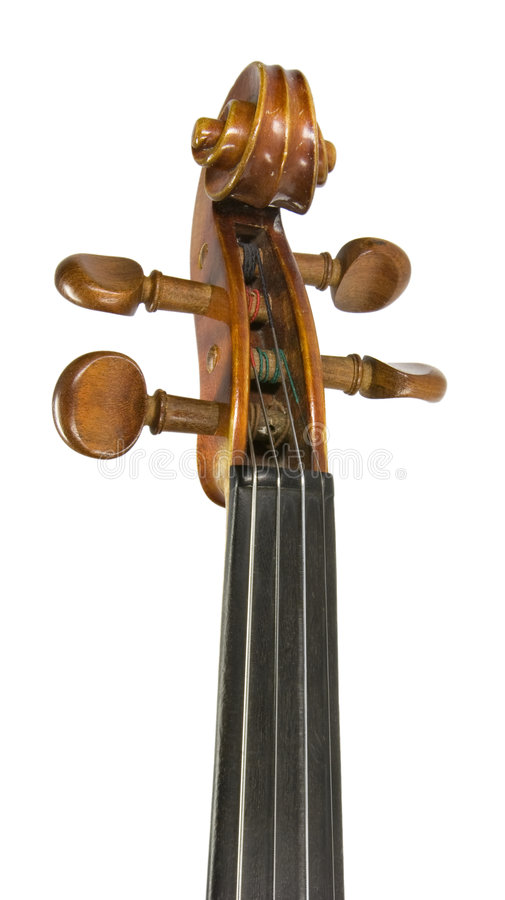 Het hoofd van de viool royalty-vrije stock foto