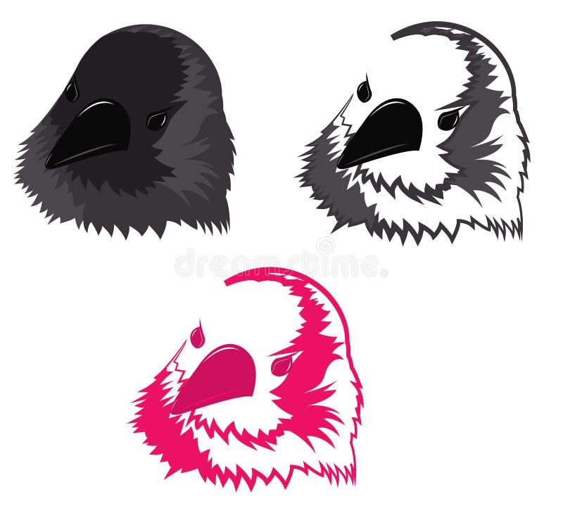 Download Het hoofd van de vogel vector illustratie. Illustratie bestaande uit donker - 54088749