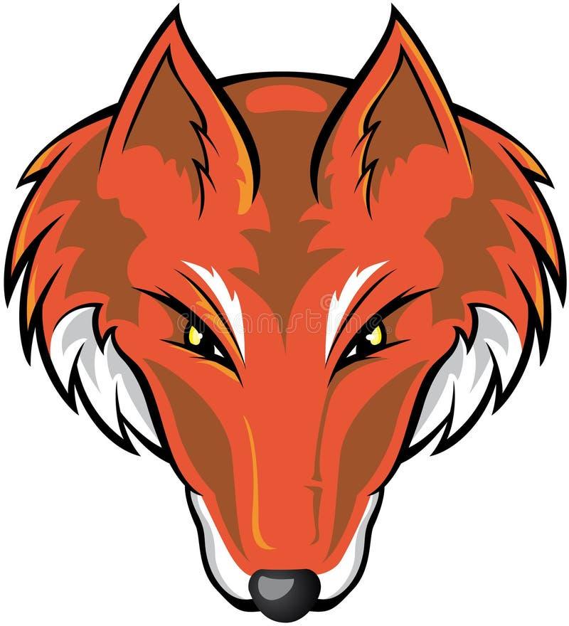 Het Hoofd van de vos vector illustratie