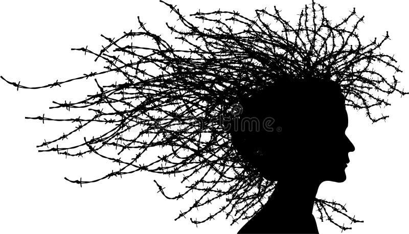 Het hoofd van de vrouw stock illustratie