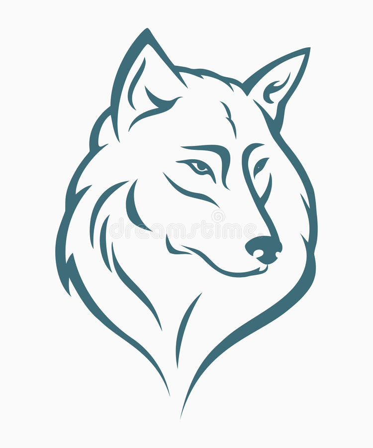 Het hoofd van de wolf vector illustratie
