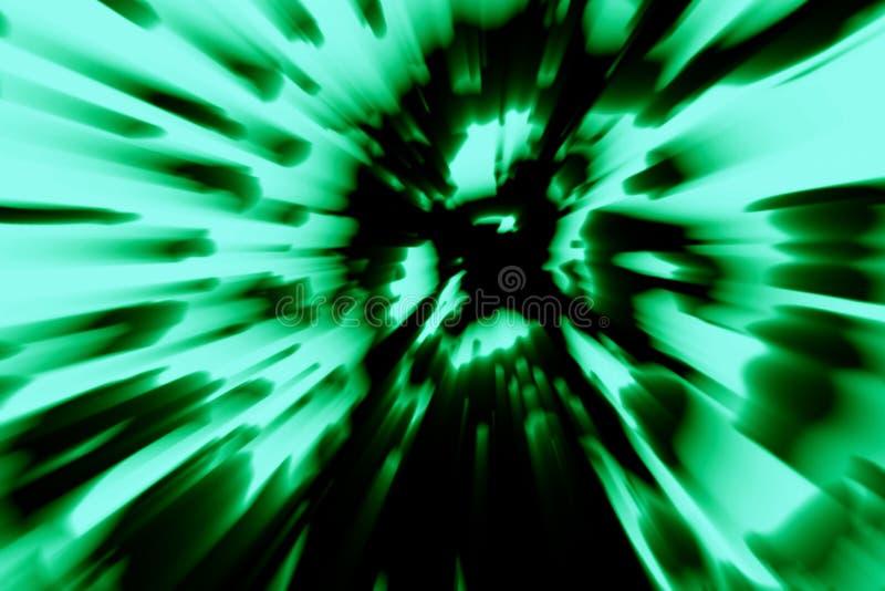 Het hoofd van de zombie brokkelt in de as af Groene Kleur stock illustratie