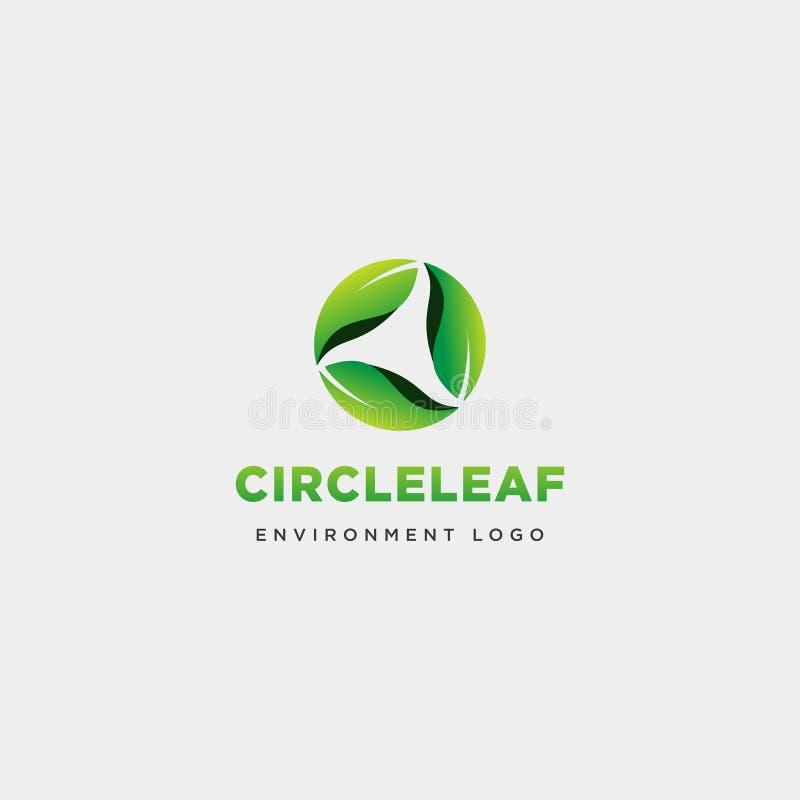 het hoofd van het het embleemmalplaatje van de bladcirkel abstracte eenvoudige element van het de illustratiepictogram vector royalty-vrije illustratie
