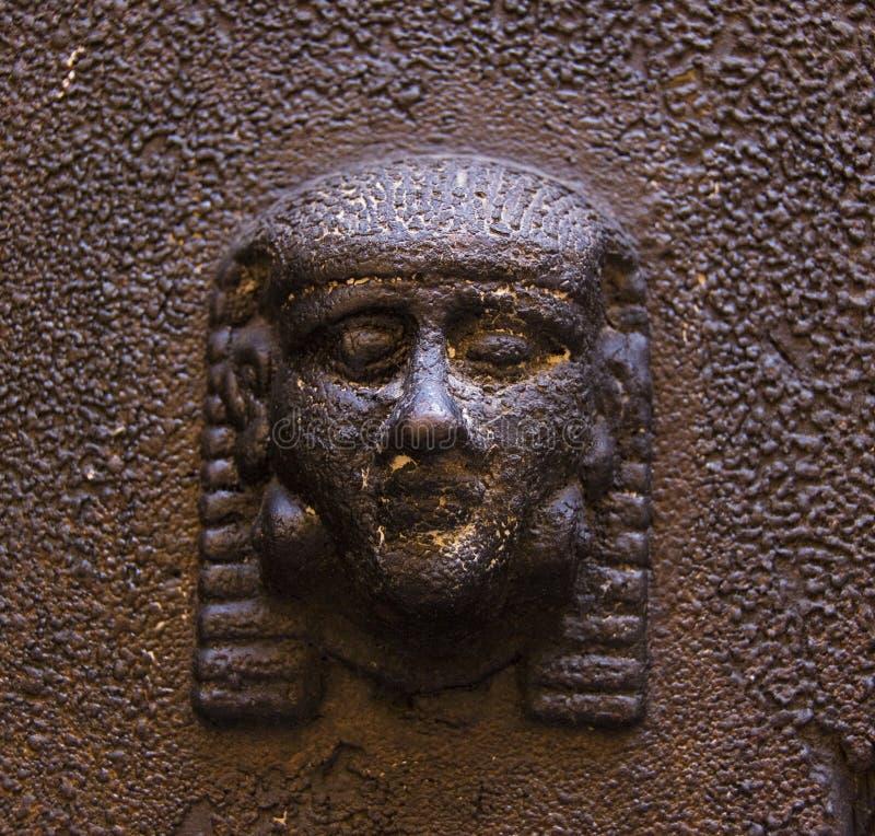 Het hoofd van Etruscan stock foto