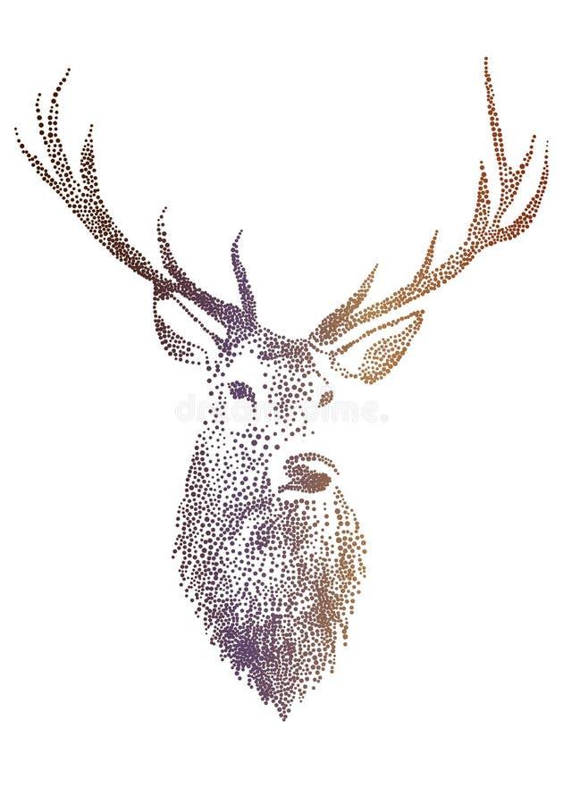 Het hoofd van herten, vector vector illustratie