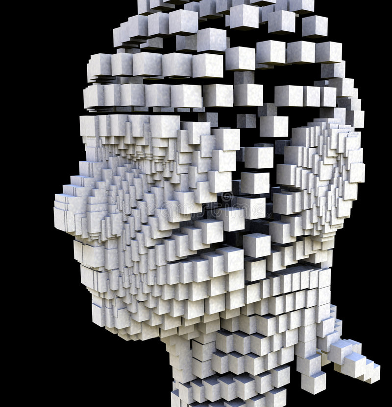 Het Hoofd van het blok stock afbeelding