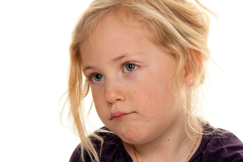 Het hoofd van het kind. Portret van een weinig stock afbeeldingen