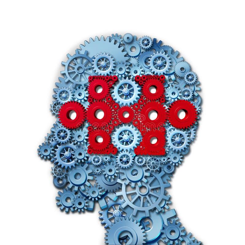 Het Hoofd van het psychologieraadsel royalty-vrije illustratie