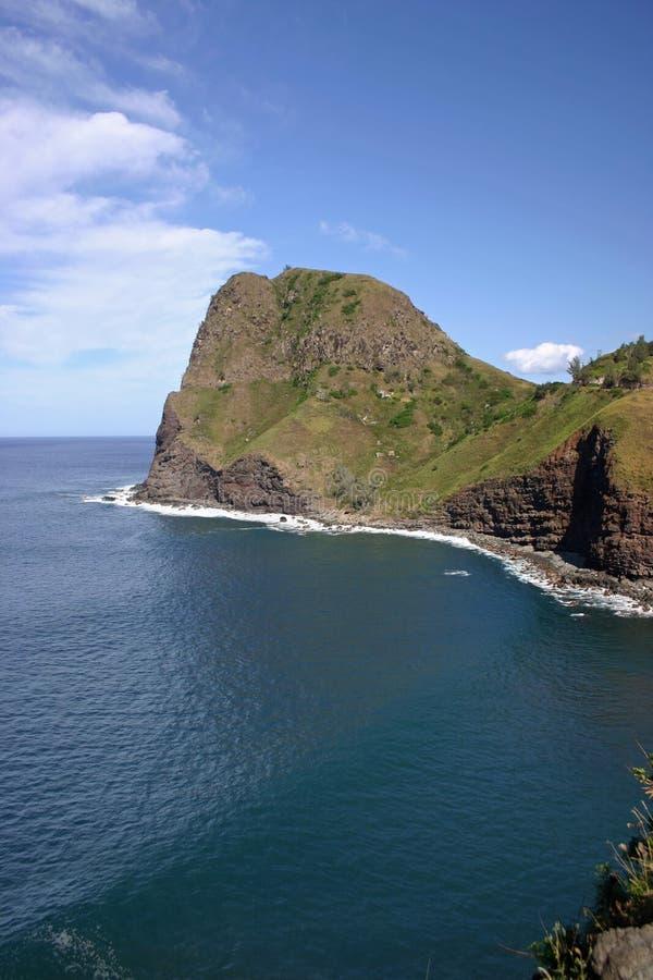 Het Hoofd van Kahakuloa, Maui stock foto's