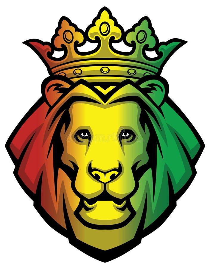 Het hoofd van leeuwrasta royalty-vrije illustratie