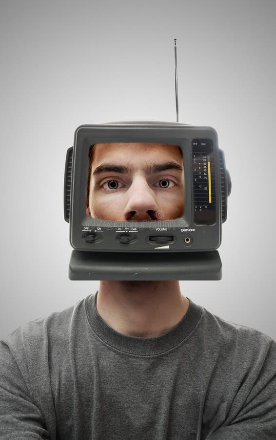 Het Hoofd van TV stock foto's