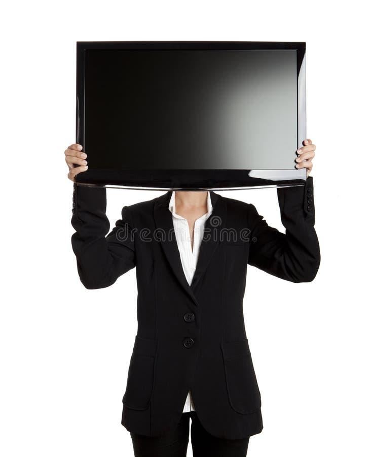 Het hoofd van TV stock afbeeldingen