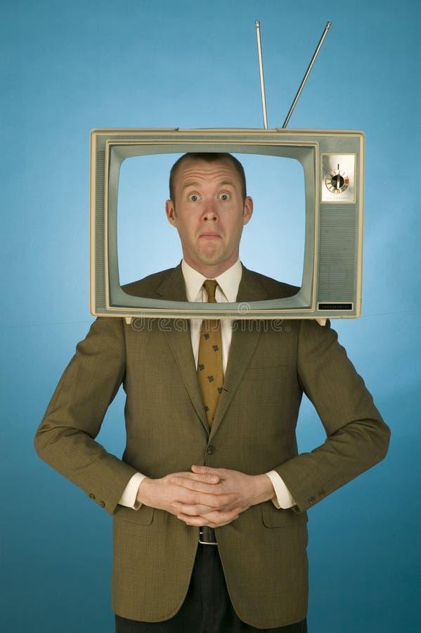 Het Hoofd van TV stock foto
