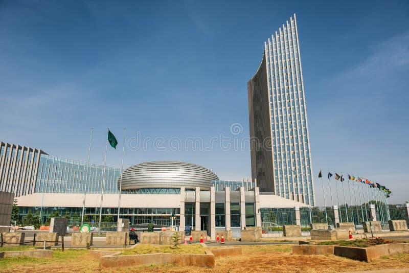 Het hoofdkwartier die van de Afrikaanse Unie Addis Ababa inbouwen stock fotografie
