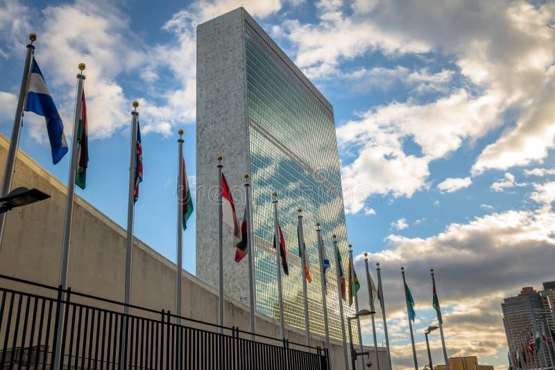 Het Hoofdkwartier van de Verenigde Naties - New York, de V.S. royalty-vrije stock afbeeldingen
