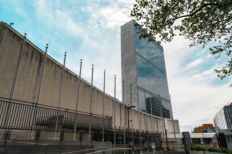Het Hoofdkwartier van de Verenigde Naties, de Stad van New York stock fotografie