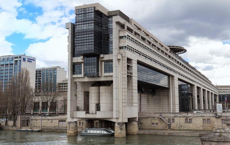 Het hoofdkwartier van het Franse Ministerie van Financiën en Economie wordt gevestigd in de Bercy-buurt in de twaalfde stock afbeelding