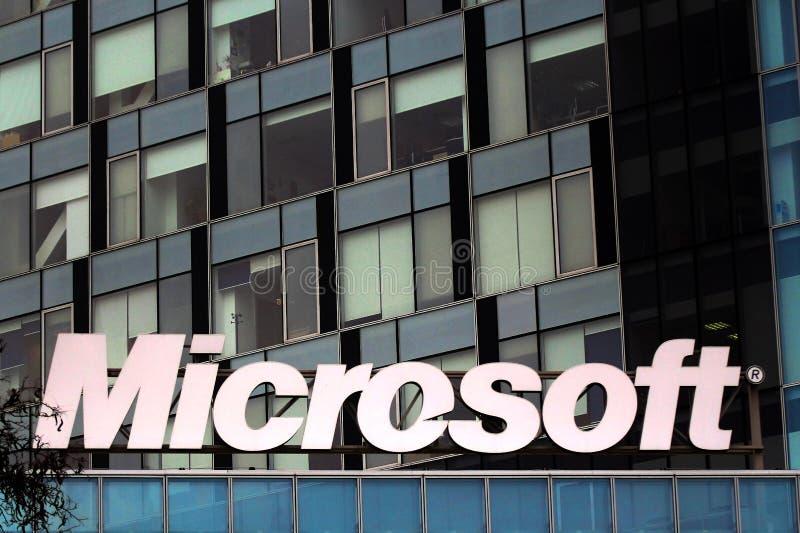 Het hoofdkwartier van Microsoft in Boekarest, Roemenië royalty-vrije stock afbeeldingen