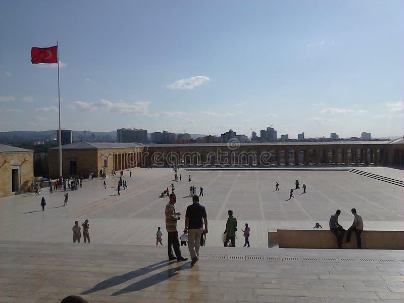 Het hoofdplein Ataturk van Ankara in Turkije royalty-vrije stock foto