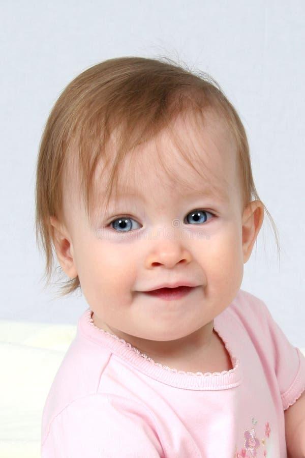 Het HoofdSchot van het Meisje van de baby royalty-vrije stock afbeelding