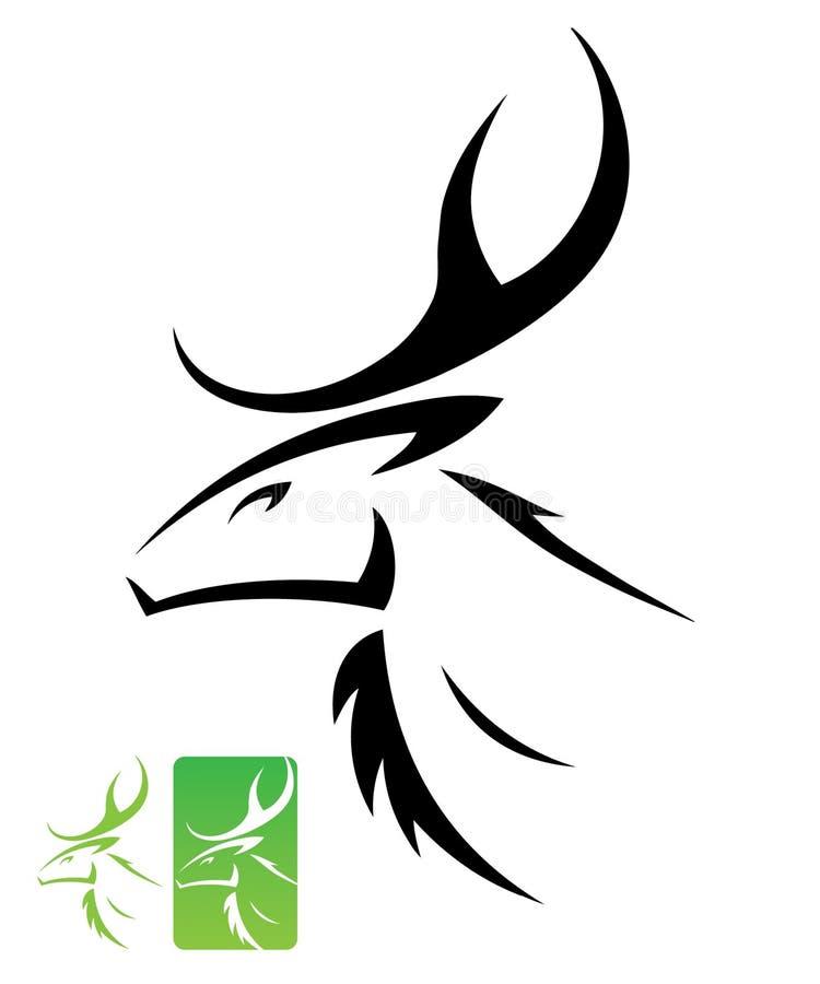 Het hoofdsymbool van herten stock illustratie