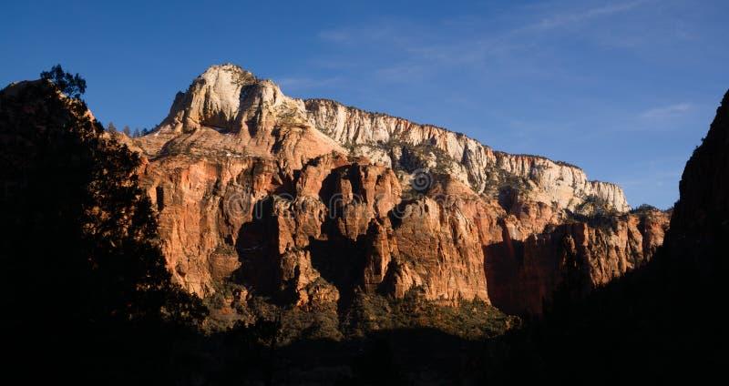 Het Hooggebergte Zion National Park van de panorama Recente Middag royalty-vrije stock fotografie