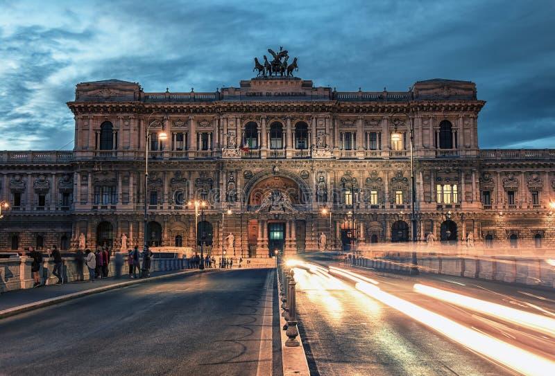 Het Hooggerechtshof van Cassatie in Rome, Italië stock foto's
