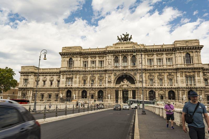 Het Hooggerechtshof van Cassatie in Rome, Italië royalty-vrije stock afbeelding