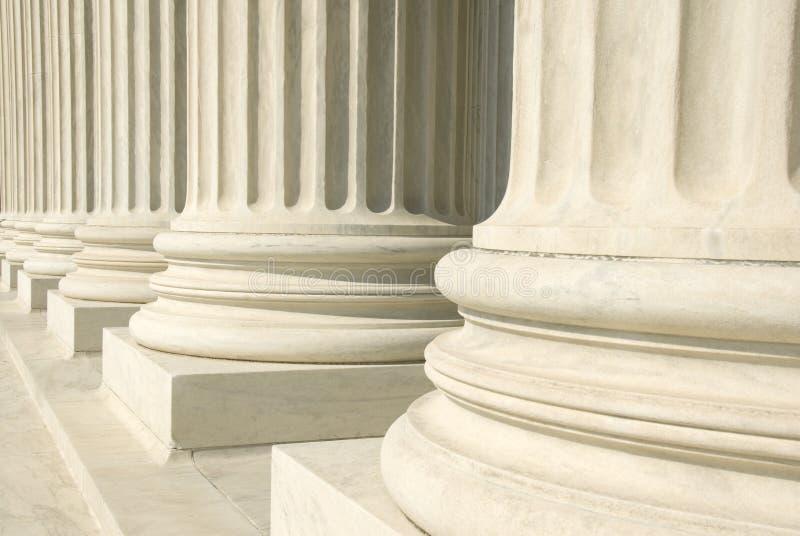 Het Hooggerechtshof van de V.S. - Kolommen royalty-vrije stock afbeeldingen