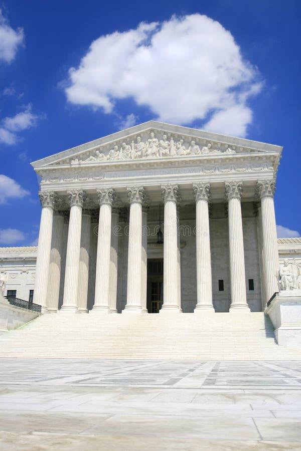 Het Hooggerechtshof van de V.S., Voor, Brede Hoek royalty-vrije stock afbeelding