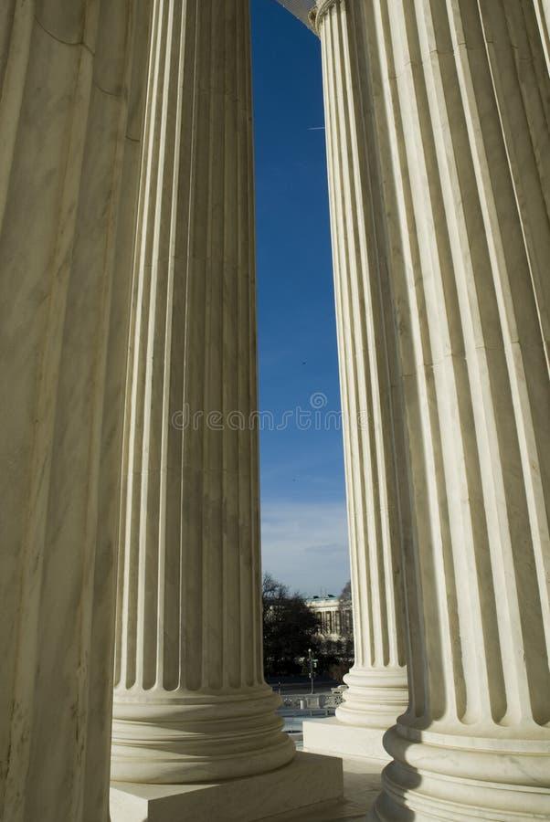 Het Hooggerechtshof van de V.S. in Washington DC royalty-vrije stock fotografie